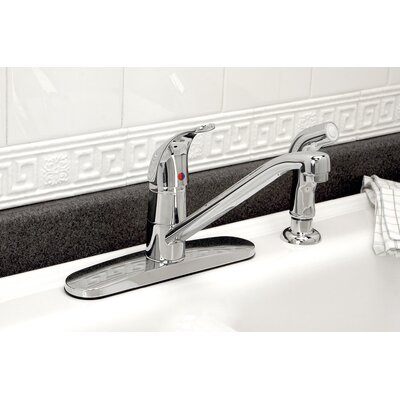 Westlake Single Handle Kitchen Faucet with Side Spray Finish: PVD Brushed Nickel