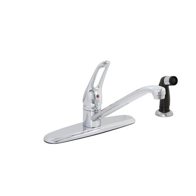 Bayview One Handle Centerset Kitchen Faucet with Deck Mount Spray