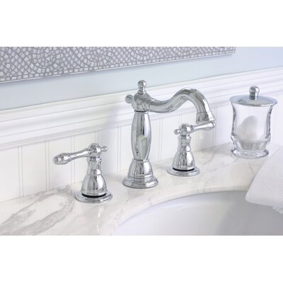 Charlestown Widespread Bathroom Faucet with Double Handles Finish: PVD Brushed Nickel