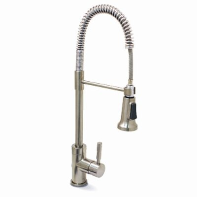 Essen One Handle Single Hole Pull-Down Bar Faucet Finish: Brushed Nickel (PVD)