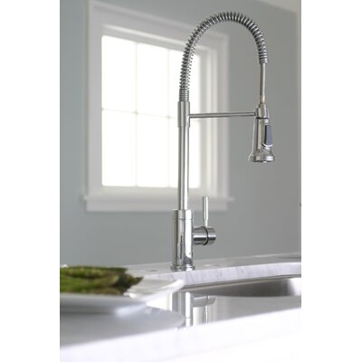 Essen One Handle Single Hole Pull-Down Bar Faucet Finish: Chrome
