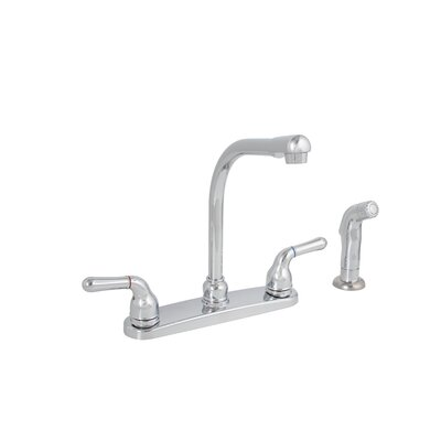 Sanibel Two Handle Centerset Kitchen Faucet with Matching Spray