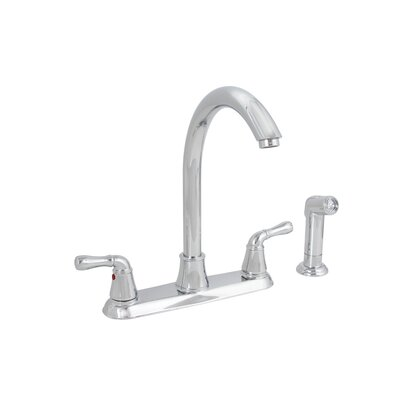 Sanibel Double Handle Kitchen Faucet with Side Spray Finish: Chrome