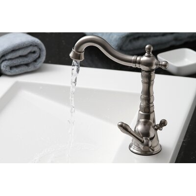 Charlestown Single Handle Bathroom Faucet with Optional Pop-Up Drain Finish: Chrome