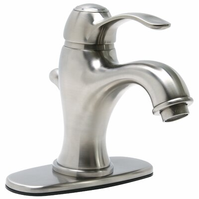 Sanibel Single Handle Bathroom Faucet with Optional Pop-Up Drain Finish: Brushed Nickel