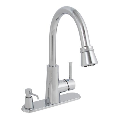 Essen Pull Down Single Handle Kitchen Faucet Finish: Chrome