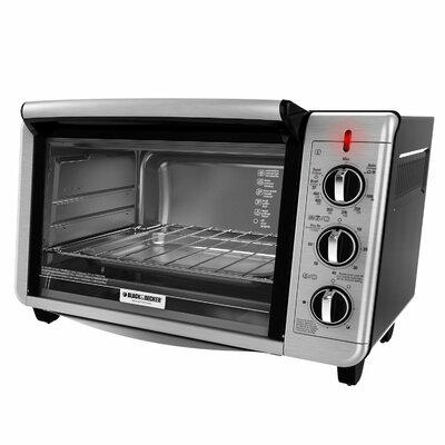 Black & Decker - 6-Slice Toaster Oven - Silver TO3230SBD