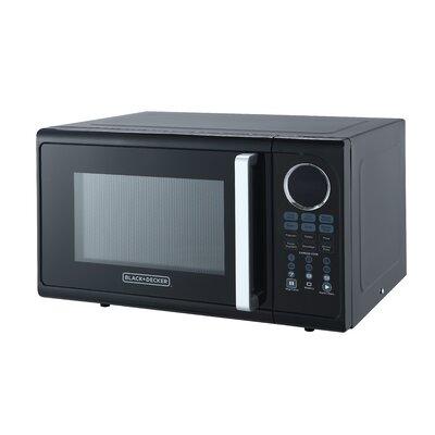 Black and Decker Microwave 0.9 Cu. Ft. Pull handle - Black(EM925ACP-P2)