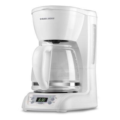 Black & Decker DLX1050W 12-Cup Programmable Coffeemaker, White 267218408