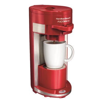 Flex Brew Single Serve K-Cup Coffee Maker Color: Red 49962