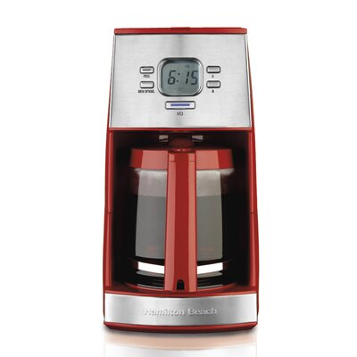 Hamilton Beach Hamilton Beach 43253R Ensemble 12 Cup Coffeemaker - Red 267393800