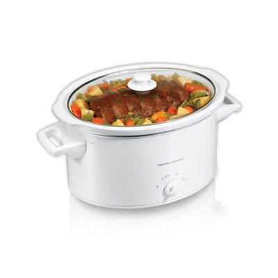 8 Quart Oval Slow Cooker In White