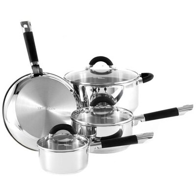 Stainless Steel 7-piece Cookware Set Color-stainless Steel