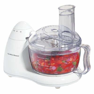 Hamilton Beach PrepStar 70550R Food Processor - 8 Cup (Capacity) - 2 Speed - 350 W Motor - White 204591554
