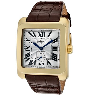 Men's Automatic Guilloche Rectangle Watch