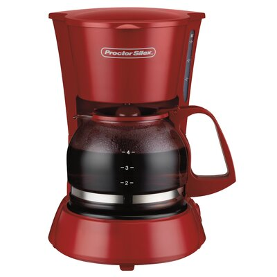 4 Cup Coffeemaker Color: Red 48133