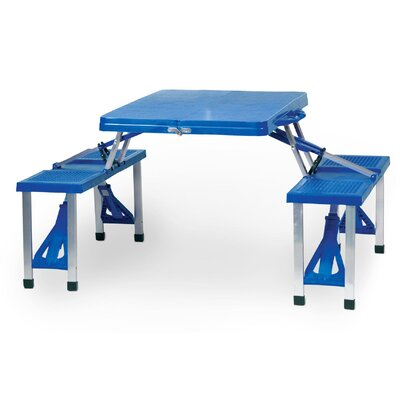 Outdoor Furniture Picnic Table Finish: Royal Blue