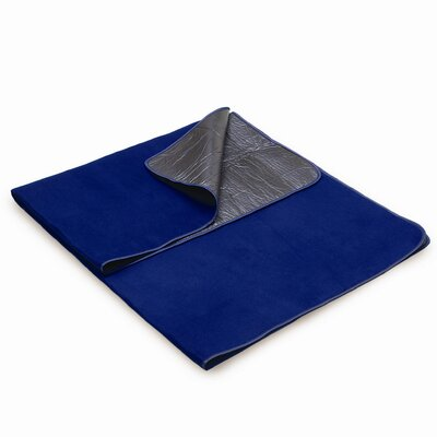 Picnic Time Polyester Fleece Blanket Tote - Color: Navy at Sears.com