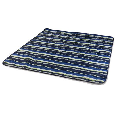 Vista Outdoor Blanket Color: Navy Blue / Lime