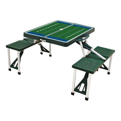 Picnic Table Sport Finish: Green with Football Field