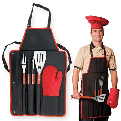 BBQ Apron Tote Color: Black