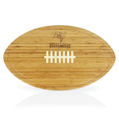 Picnic Time NFL Kickoff Wood Cutting Board - NFL Team: Tampa Bay Buccaneers