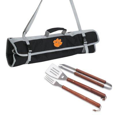 NCAA 3 Piece BBQ Tool Set with Tote NCAA Team: Clemson