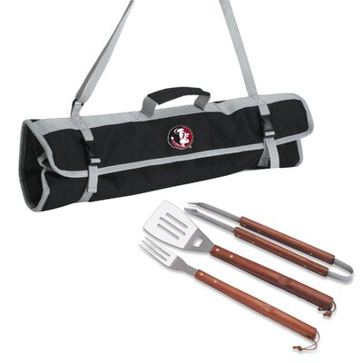 NCAA 3 Piece BBQ Tool Set with Tote NCAA Team: Florida State