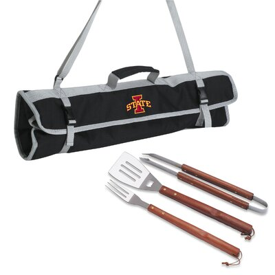 NCAA 3 Piece BBQ Tool Set with Tote NCAA Team: Iowa State
