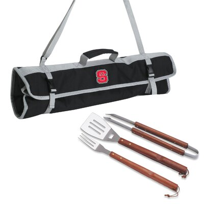 NCAA 3 Piece BBQ Tool Set with Tote NCAA Team: North Carolina State
