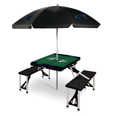 Picnic Table NFL Team: Carolina Panthers/Black