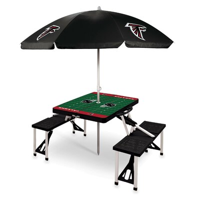 Picnic Table NFL Team: Atlanta Falcons/Black
