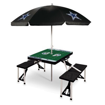 Picnic Table NFL Team: Dallas Cowboys/Black