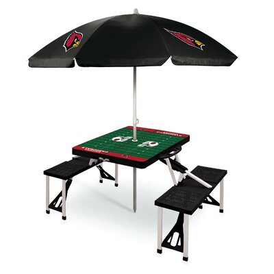 Picnic Table NFL Team: Arizona Cardinals/Black
