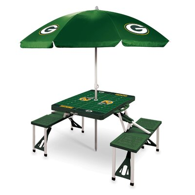 Picnic Table NFL Team: Green Bay Packers/Hunter Green