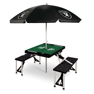 Picnic Table NFL Team: Oakland Raiders/Black