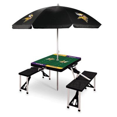 Picnic Table NFL Team: Minnesota Vikings/Black
