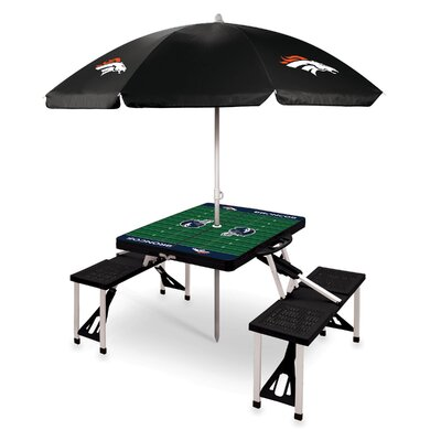 Picnic Table NFL Team: Denver Broncos/Black