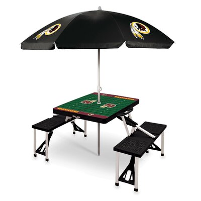 Picnic Table NFL Team: Washington Redskins/Black