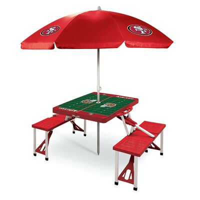 Picnic Table NFL Team: San Francisco 49ers/Red
