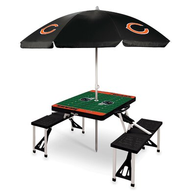 Picnic Table NFL Team: Chicago Bears/Black