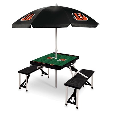 Picnic Table NFL Team: Cincinnati Bengals/Black