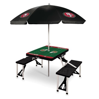 Picnic Table NFL Team: San Francisco 49ers/black