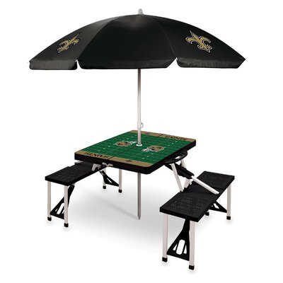 Picnic Table NFL Team: New Orleans Saints/Black