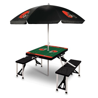 Picnic Table NFL Team: Cleveland Browns/Black