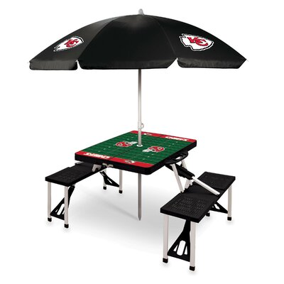 Picnic Table NFL Team: Kansas City Chiefs/Black