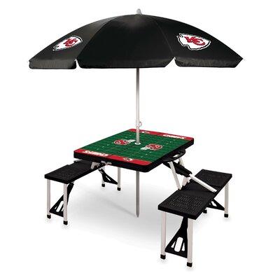 Picnic Table NFL Team: Kansas City Chiefs/Black