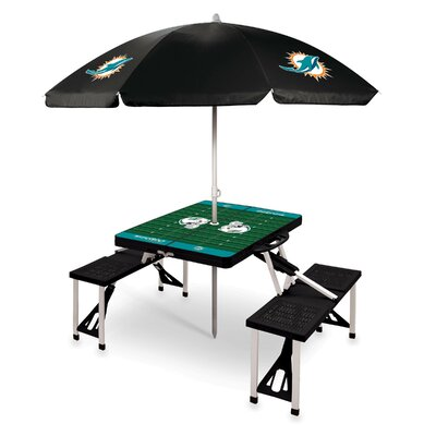 Picnic Table NFL Team: Miami Dolphins/Black