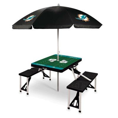 Picnic Table NFL Team: Miami Dolphins/Black