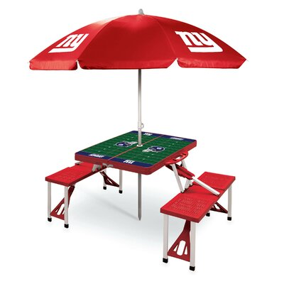 Picnic Table NFL Team: New York Giants/Red